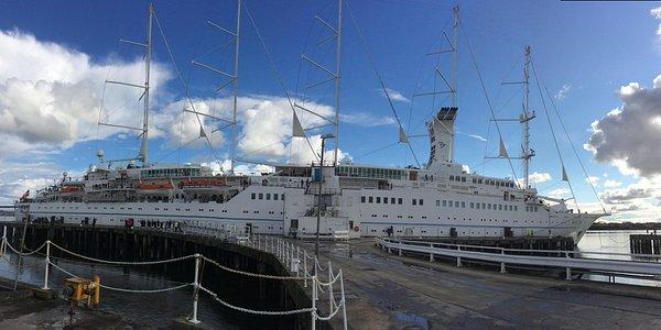 Cruise ship at invergordon