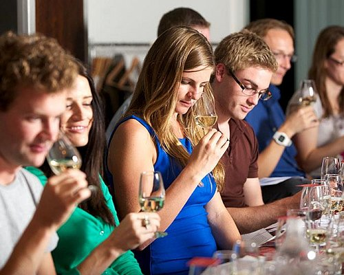 Wine tasting in action