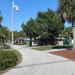 Walking path at Manatee Island Dog Park