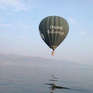 Oriental Ballooning over Inle Lake