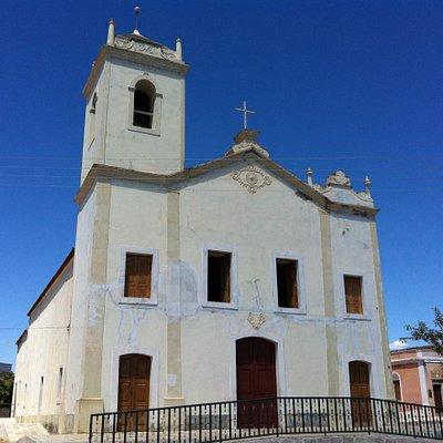 Catholic church real stage for Auto da Compadecida movie