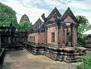 Sceen of Preah Vihea temple