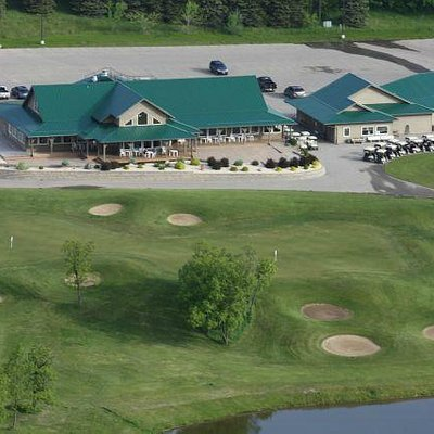 The clubhouse from above