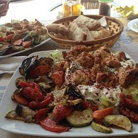 Kebab and veg