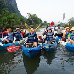Kayaking on the Nam Song