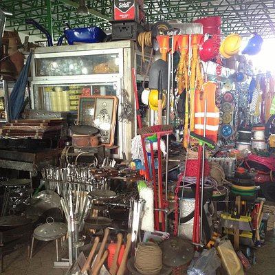 Hardware store in the market
