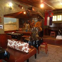 Wild West decor inside