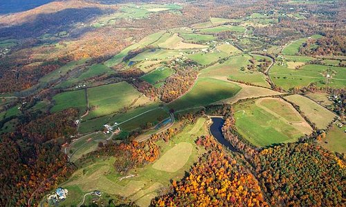 Grace Estate, 550 acres from the sky
