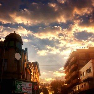 Sunset outside Fordsburg Square