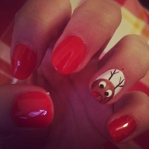 Christmas Nails SO cute deserved a photo!