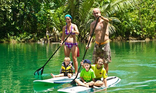 Stand-up paddling fun for families.