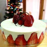 Torta de frutillas frescas con crema mousseline