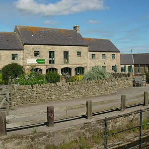 C18th farm steading containi 12 craft workshops and Coffee House. Birthplace of Capability Brown