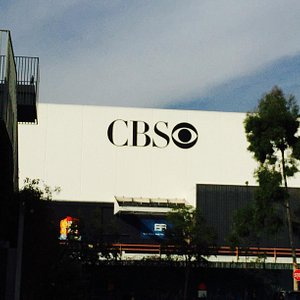 Outside CBS Studios where filming took place
