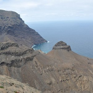 Turks Cap - one of many prominent and spectacular geological features in St Helena