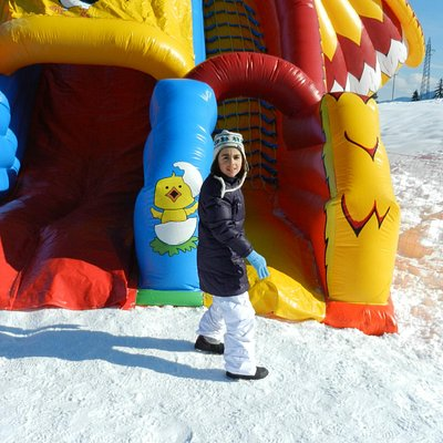gonfiabili sulla neve
