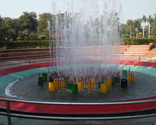 Fountains, swings, lawns...fun :)