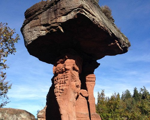 View on the rock formation