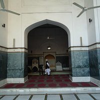 The front of the mosque.