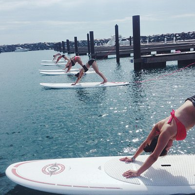 Paddleboard Yoga in Chicago with Royal Pigeon Yoga
