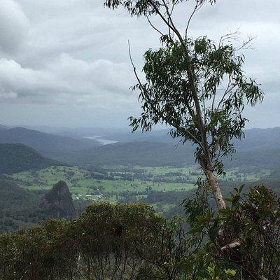 View from Bellbird Lookout Beechmont Binna Burra QLD
