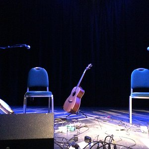 Stage for Eamonn Coyne and Kris Drever, 20/09/14, from the front row.