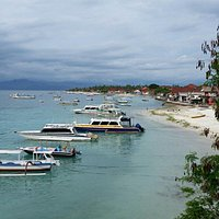 The beach is full of boats, and it is not suitable for snorkeling nor swimming.
