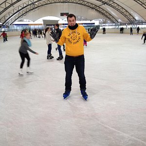 Outdoor rink under the tent