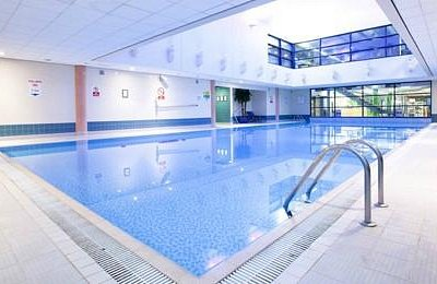 the pool with sauna, steam room and jacuzzi