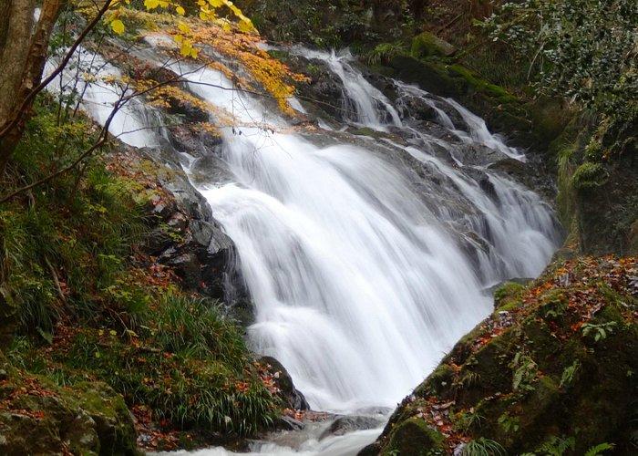 上段の滝のアップ