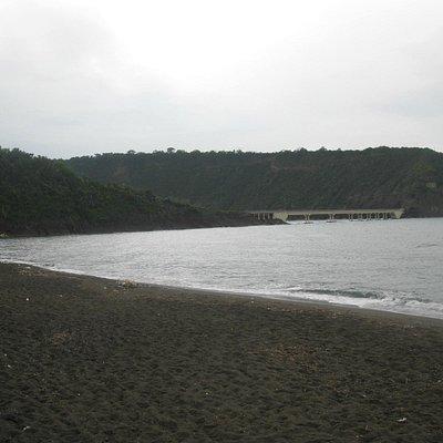 "The islet of Vivara seen from ""Chiaiolella"" on a rainy day"
