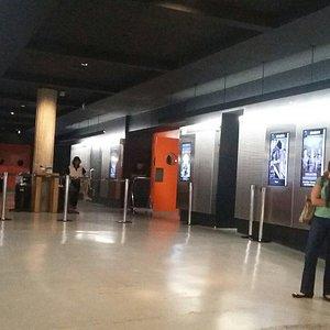 Entrada para as salas de cinema