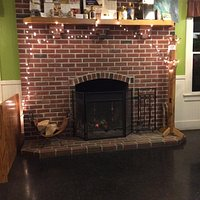 Real fireplace.