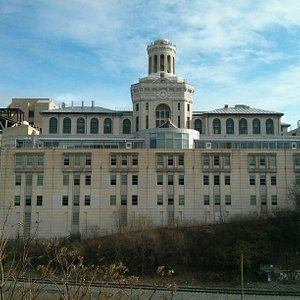 The back of the main administrative building