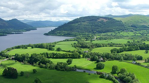 Ariel view of The Lakes Distillery - Bassenthwaite Lake
