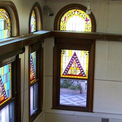 los vitreaux de las ventanas