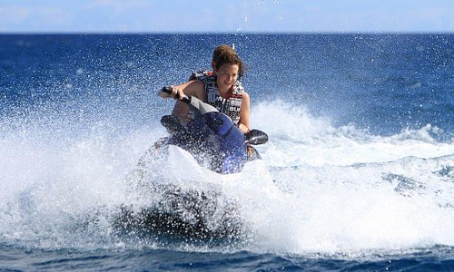 Watersport activity in Mauritius