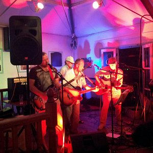 The Huckleberry Finns at The Quayside Bar during Looe music festival