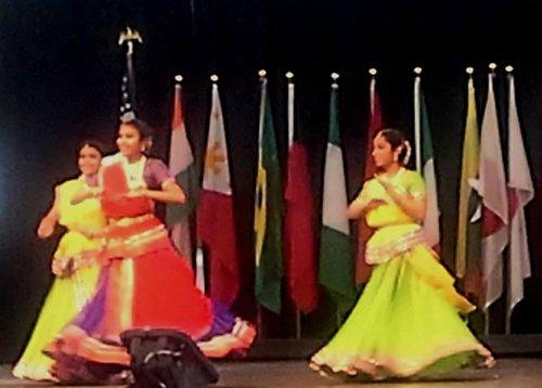 Indian dancers at Indy Int'l Fest