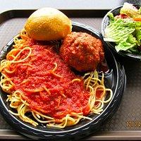 Spagetti & meatball w/salad