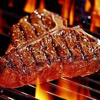 flamed steak