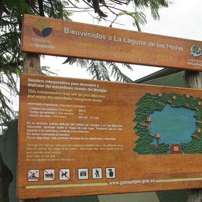 Señalética Laguna Las Ninfas
