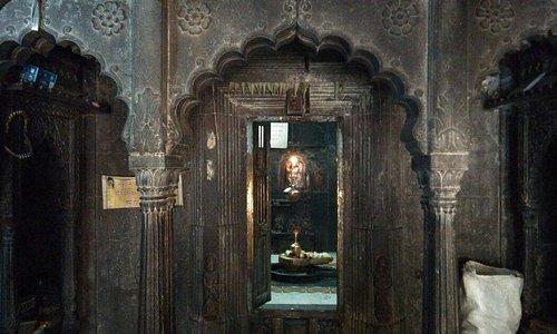 Inner side of temple
