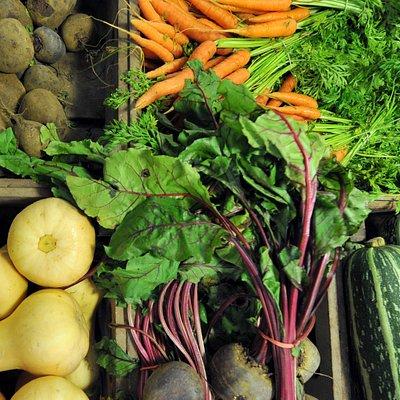 Lots of fresh fruit and veg
