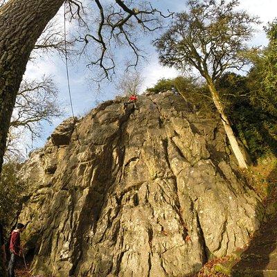 Climbing in winter