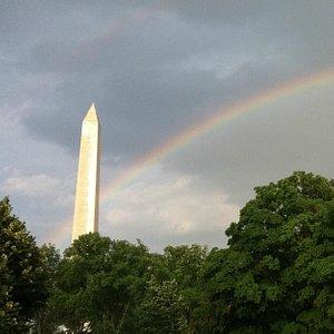Rainbow and Monument