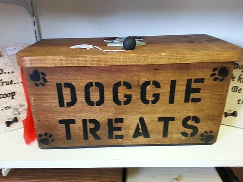 Doggie Treat Handmade Wood Boxes