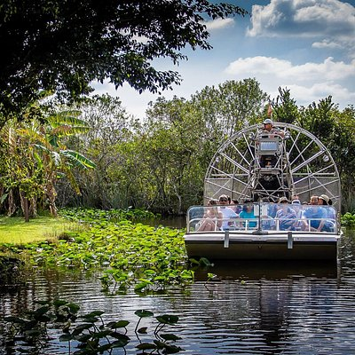 Airboat ride though nature