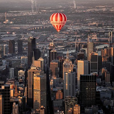 The waking City of Melbourne Below