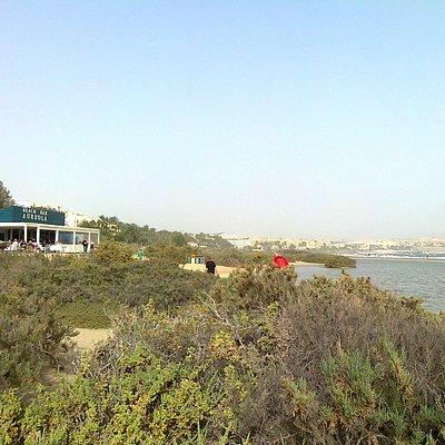 Panoramica dalla spiaggia